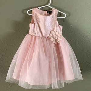 Other - (3T) Pink fancy dress with flower detail